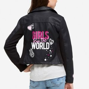 JUSTICE Girls 16/18 Run the World Moto Jacket